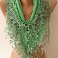 NEW - Emerald Green - Elegant Jersey Shawl/ Scarf, 2014 Fashion, Christmas Gift