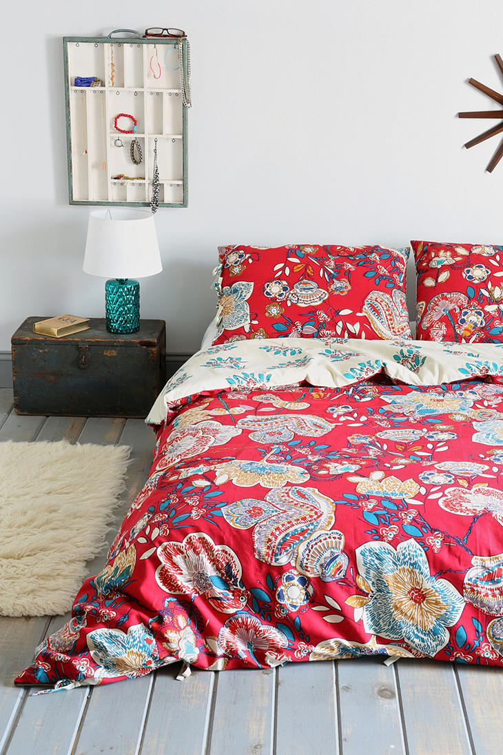 Magical thinking ruby garden duvet cover from urban outfitters Magical thinking bedding