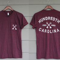 TRI-CRANBERRY POCKET TEE