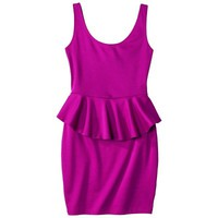 Xhilaration® Juniors Open Back Peplum Dress - Assorted Colors