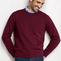 Men's Cotton Drifter Crew Sweater from Lands' End