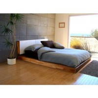 MASH Studios LAX Wall Mounted Headboard and Platform Bed Set