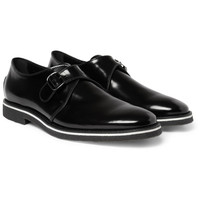 Tod's No_Code High-Shine Leather Monk-Strap Shoes | MR PORTER