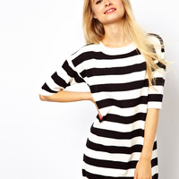 ASOS Striped Knit T-Shirt Dress