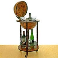 Small 16th-Century Italian Replica Globe Bar