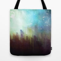 Sad city Tote Bag by SensualPatterns