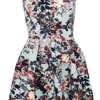 FLORAL AND BIRD PRINT FULL-SKIRTED DRESS - DRESSES - WOMAN -  PULL&BEAR United Kingdom