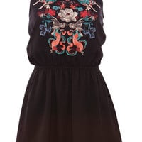 BUTTERFLY PRINT HALTER NECK DRESS - DRESSES - WOMAN -  PULL&BEAR United Kingdom