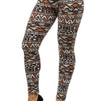 Autumn Color Tribe Leggings - Leggings Superstore
