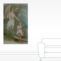 Vintage Guardian Angel Wall Decal