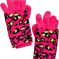 BetseyJohnson.com - SEEING SPOTS 2-IN-1 GLOVES MAGENTA