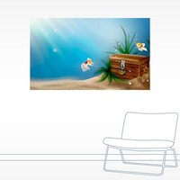 Underwater Treasure Chest Wall Decal