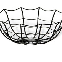 October Hill Halloween Black Spider Web Bowl, 7.5-Inch
