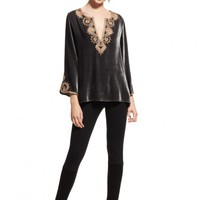 Grada Velvet Embroidered Tunic  | Calypso St. Barth