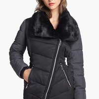 Buffalo by David Bitton Faux Fur Collar Mixed Media Jacket | Nordstrom
