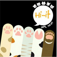 MochiThings.com: Animal Paw Index Sticky Note Set