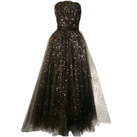 Ethereal 1950s Strapless Tulle and Star Sequin Confection | 1stdibs.com