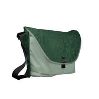 Rich Emerald Green Messenger Bag