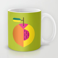Fruit: Peach Mug by Christopher Dina