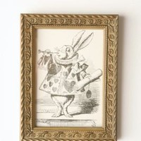 UrbanOutfitters.com > Framed Alice Rabbit Wall Art - 5x7