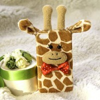 Lovely Giraffe Handmade Plush Case For iPhone 4/4s