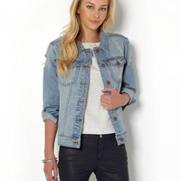 Achro Distressed Jean Jacket - The Perfect Fall Outfit - Modnique.com