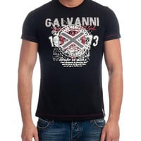 Galvanni Marl Print 100% Cotton T-Shirt Made in Europe - Galvanni Summer Sale: Men's - Modnique.com