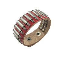 punk style bracelet with metal rivet, men's jewelry bangle cuff bracelet, women's leather bracelet S102-R