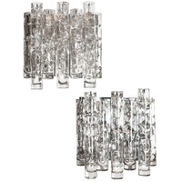 Pair of Glass Sconces by Doria