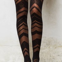 Chevron Lace Tights