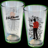Halloweentown Store: A Nightmare On Elm Street Freddy Krueger Pint Glass