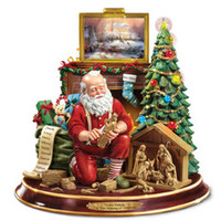 The Thomas Kinkade Woodcarving Santa