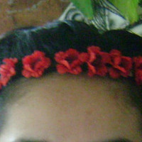 Red Roses Flower Crown/Headband. One size fits all