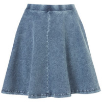 DARK DENIM SKATER SKIRT