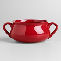 Cherry Double-Handled Soup Crock
