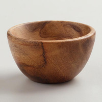 Mini Wooden Prep Bowls, Set of 4