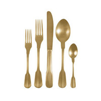 5-Pc. Eat Like Royalty Gold Cutlery Set