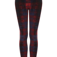 Velvet Check Leggings