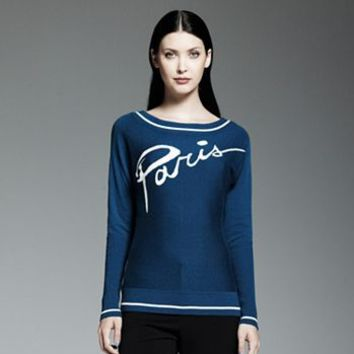 "Catherine Malandrino for DesigNation ""Paris"" Sweater"
