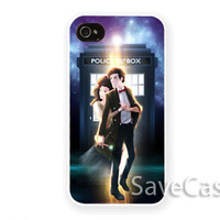 The Tardis and her doctor Who - iPhone Case - iPhone 4 iPhone 4s - iphone 5 - Samsung S3 - Samsung S4