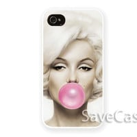 Marilyn Monroe Buble Gum - iPhone Case - iPhone 4 iPhone 4s - iphone 5 - Samsung S3 - Samsung S4