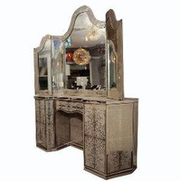 Venfield - 1940&#x27;s Egliomise Mirrored Vanity - 1stdibs