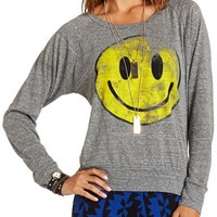 SMILEY FACE GRAPHIC TOP