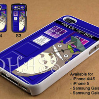 Totoro Tardis Police Box Galaxy Design for iPhone 4/4s/5 Case, Samsung Galaxy S3/S4 Case