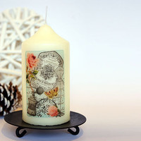 Vintage French Style Candle Rose De Provence