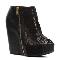 Qupid Worthy-155A Wedge Bootie