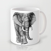 $15.00 Ornate Elephant Mug - society6.com