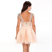 Jovani Juniors Beaded Bodice Dress at Von Maur