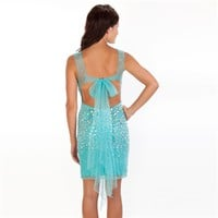 Jovani Juniors Chunky Bling Illusion Dress at Von Maur