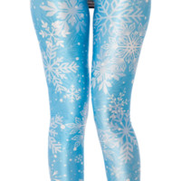 Snow Flake Leggings (48HR) | Black Milk Clothing